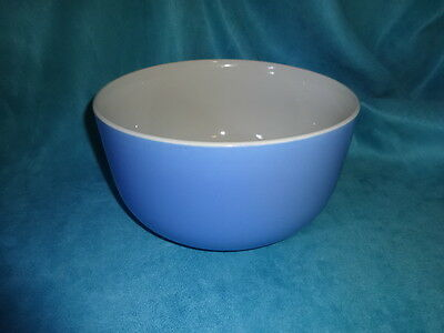 Vintage mixing bowl solid Blue Heavy stoneware pottery large bowl