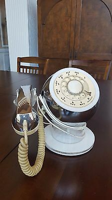 Vintage ITT Rotary Dial Phone Retro Telephone Round Sphere shape