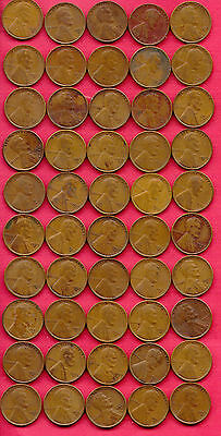 Lot of 50 1929-S Wheat Pennies
