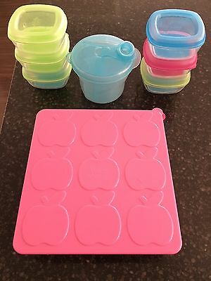 Baby Feeding Essentials Plastic Freezer Pots & Avent Formula Container Gr8 Cond