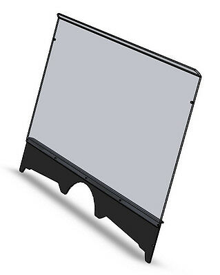 2810-YN66 Yamaha Rhino windshield with black stiffener