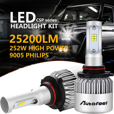 Philips 9005 HB3 High Beam 252W 25200LM LED Headlight Kit Head Light Bulbs 6000K