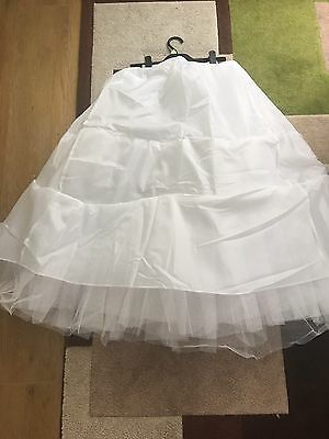 White 3 Layers Tulle Hoopless Wedding Or Prom Dress Underskirt/ Underdress