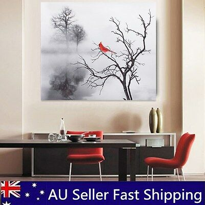 Red Bird Modern Canvas Painting Print Picture Home Wall Art Decor No Frame New
