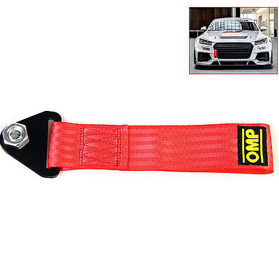 Sports Red High Strength Racing Tow Strap Set for Front Rear Bumper Towing Hook