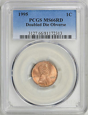 1995 Lincoln Memorial Cent - Doubled Die Obverse - Ddo - Pcgs Ms66 Rd (17-0189)