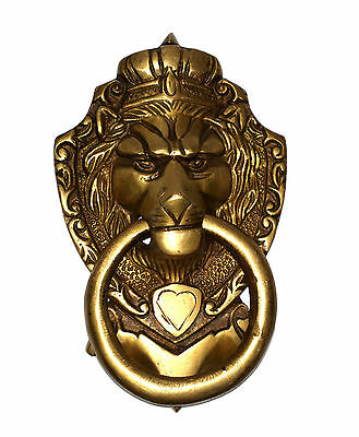 A Rare Attractive brass made 'A ROYAL LION FACE' designed DOOR KNOCKER fromINDIA
