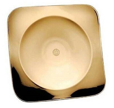 "VERSACE MEDUSA GOLD PLATE TRAY ROSENTHAL 13"" / 33cm LARGE NEW RETAIL $300 SALE"