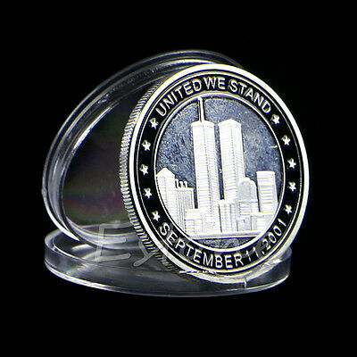 2011 911 10th Anniversary Plated Silver Commemorative Coin Art Collectible Gift