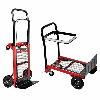 Trolley Platform 4 Wheel Hand Red Heavy Duty 70Kg Secure Load Foldable Car Truck