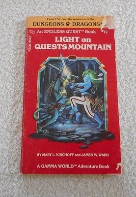 DUNGEONS AND DRAGONS LIGHT ON QUESTS MOUNTAIN Endless Quest Book 12