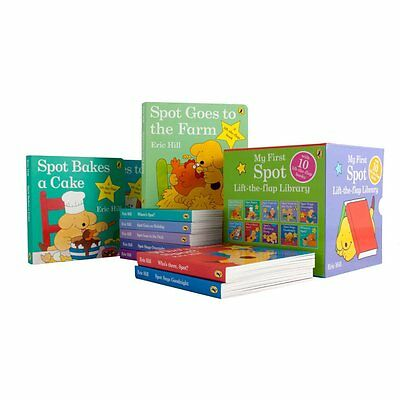 My First SPOT Lift-the-Flap Library 10 Board Books Set Collection Eric Hill New