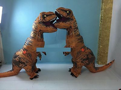 T-Rex DINOSAUR Inflatable Adult Costume TRex Costumes Halloween Party Dress@