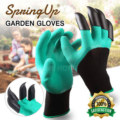Garden Genie Work Gloves with Claws on Right Hands for Digging and Planting
