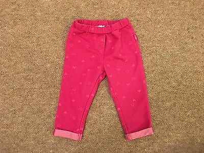 Chicco Baby Girl Pink Heart Print Trousers - 12 Months