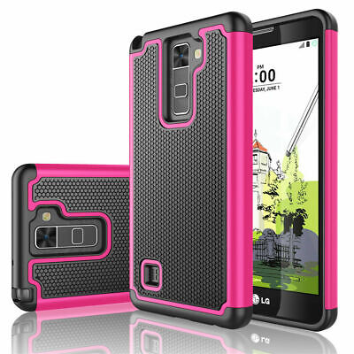 For LG Stylo 2 Plus Shockproof Hybrid Rugged Rubber Impact Defender Case Cover
