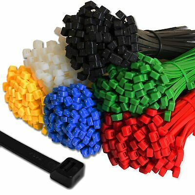 Strong Cable Ties Premium Tie Wraps Nylon Zip Ties Long All Sizes & Colours