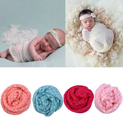 Newborn Baby Boy Girl Soft Costume Photography Props Blanket Wrap Swaddle Cover