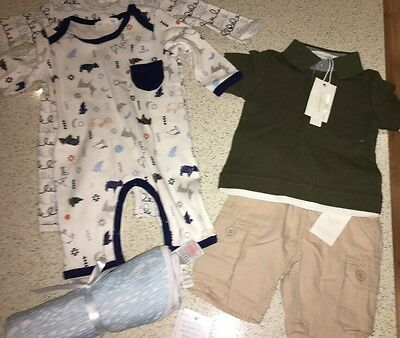 Baby Boy Mixed Items Pumpkin Patch All New With tags