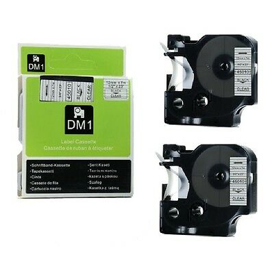 1x 2x 3x 5x D1 tape cartridge 45010 Black on Clear 12mm for Dymo label manager