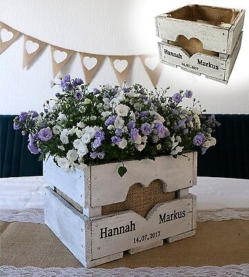 Vintage Wedding Fruit Box Table Decoration Wood Present Flowers Rural Shabby