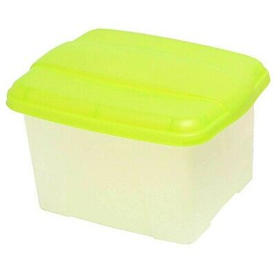 Crystalfile Porta Box 32 Litre Clear Base - Lime Lid