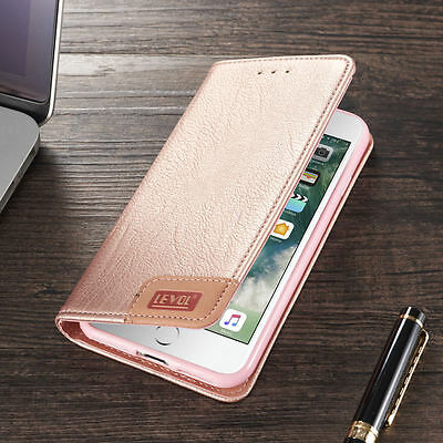 Luxury Leather Magnetic Flip Back Wallet Case Cover For iPhone X 8 7 7 Plus 6s 5