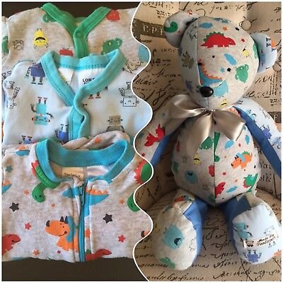 Handmade Bespoke Memory Bears/Teddy From Your Loved Articles 18 inches tall