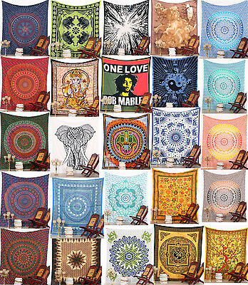 Tapestry Mandala Indian Wall Hanging Decor Bohemian Hippie Queen Bedspread Throw