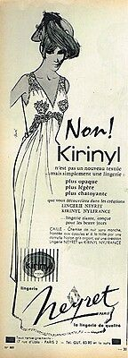 Other Breweriana Publicite Advertising 024 1955 Cidena Lingerie Nuisette Breweriana, Beer