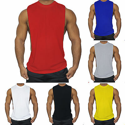 Mens Bodybuilding Tank Top Muscle T-Shirt Gym Fitness Sports Stringer Sleeveless