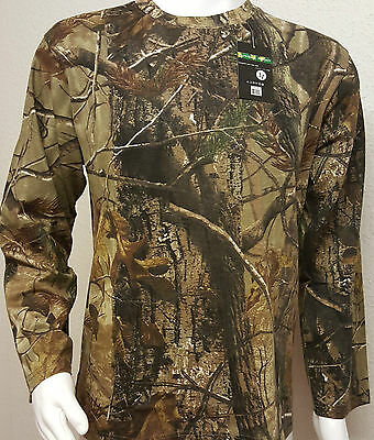 Men's Jungle Print (LONG SLEEVES) T- Shirt Camouflage Army Combat Fishing Hunt