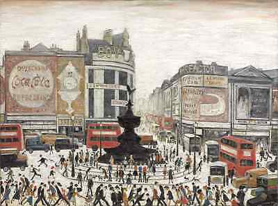 L S Lowry - Piccadilly Circus - MEDICI POSTCARDS