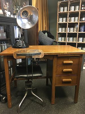 Vintage Desk, Mid Century, Solid Wood , Retro Desk. Essex