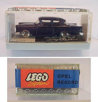 Lego 1/87 No.262 Opel Rekord kobaldblau in Garage mit Banderole ex Shop Stock