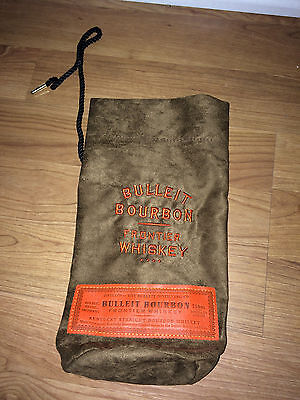 Bulleit Bourbon Collectable Cloth Gift Bag Brown and Orange FREE SHIPPING