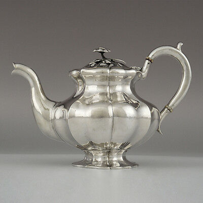Russian Imperial 19C Silver Tea Pot, Nicholls & Plicke, St. Petersburg 1859