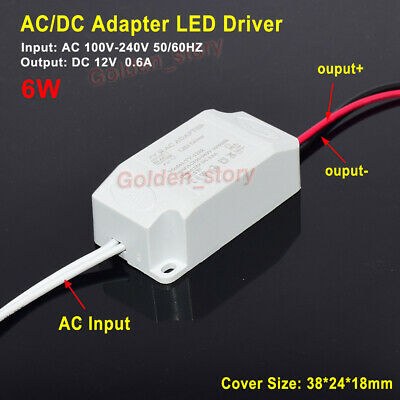 LED Driver Adapter AC 110V 220V 230V To 12V 0.6A Transformer Power Supply Module