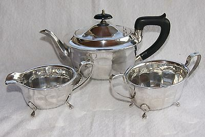 VINTAGE SILVER PLATED E P N S SHEFFIELD PLATE 3 Pc TEA SET