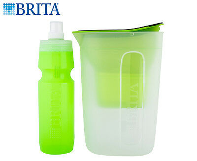 Brita Water Filter Jug & Bottle Bundle - Green