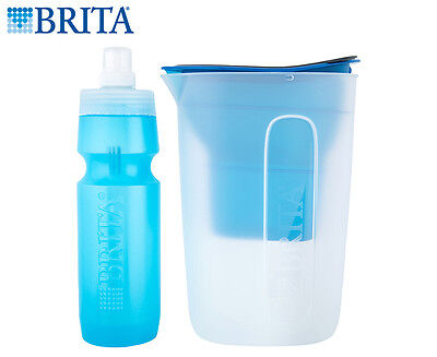 Brita Water Filter Jug & Bottle Bundle - Blue
