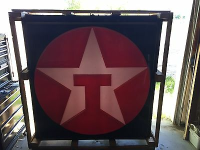 TEXACO STAR Light Up 5' X 5' Sign-New In Crate