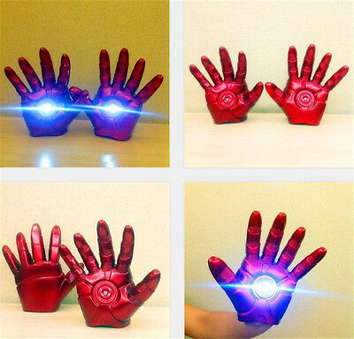 Iron Man Halloween Cosplay Gauntlet Gloves LED Left/Right Hand 1:1 Adult Gloves