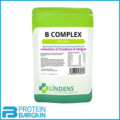 Vitamin B Complex Tablets 100 pack Lindens Health High Strength Lindens