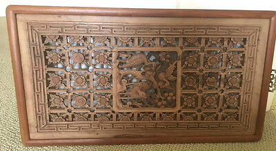 Beautiful 19Th Century Chinese  Carved Wood Panel