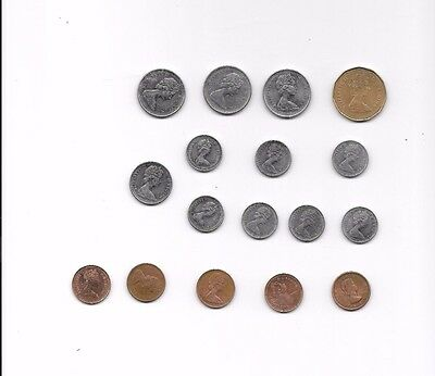 Canadian 17 Coin Lot $1.00,.25 .5,.10.01. cents, Copper,Silver 1961-1987