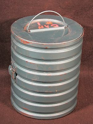 1950's Vintage 8 MM 6 Film Canister Container & 1959 Home Movies