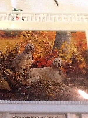 Vintage 1981 Wall Thermometer W/ Hunting Dogs Calendar