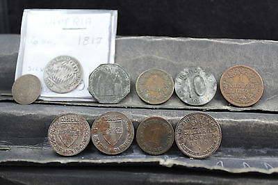 Germany 10 mixed lot of assorted coins   lot G 879