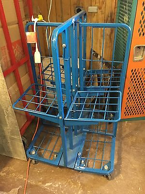 Folding Metal 4 Section Grocery Store Magazine Rack Display